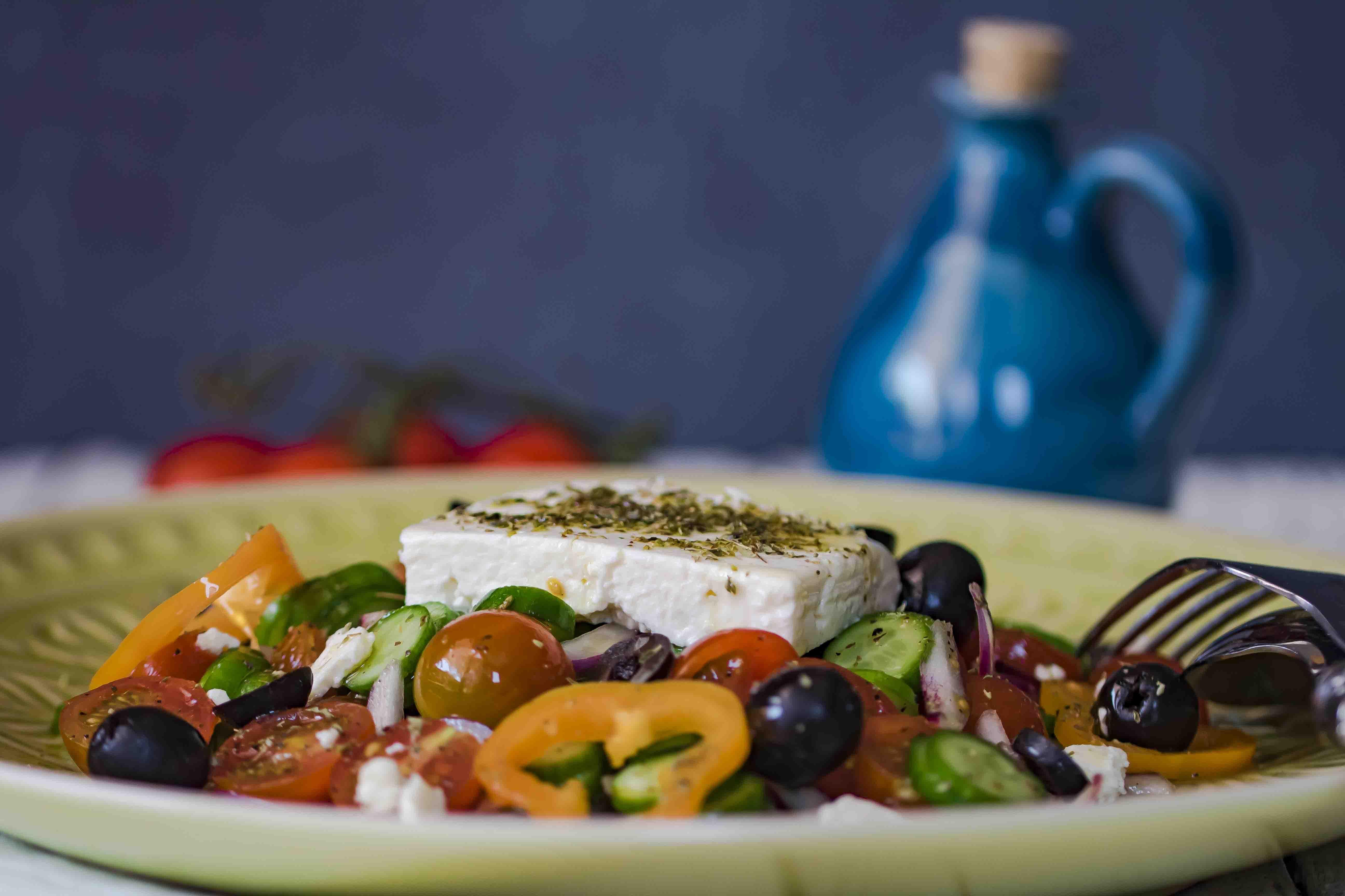 Favoriete Griekse salade met gele paprika - Secretos Del Sur @YH58