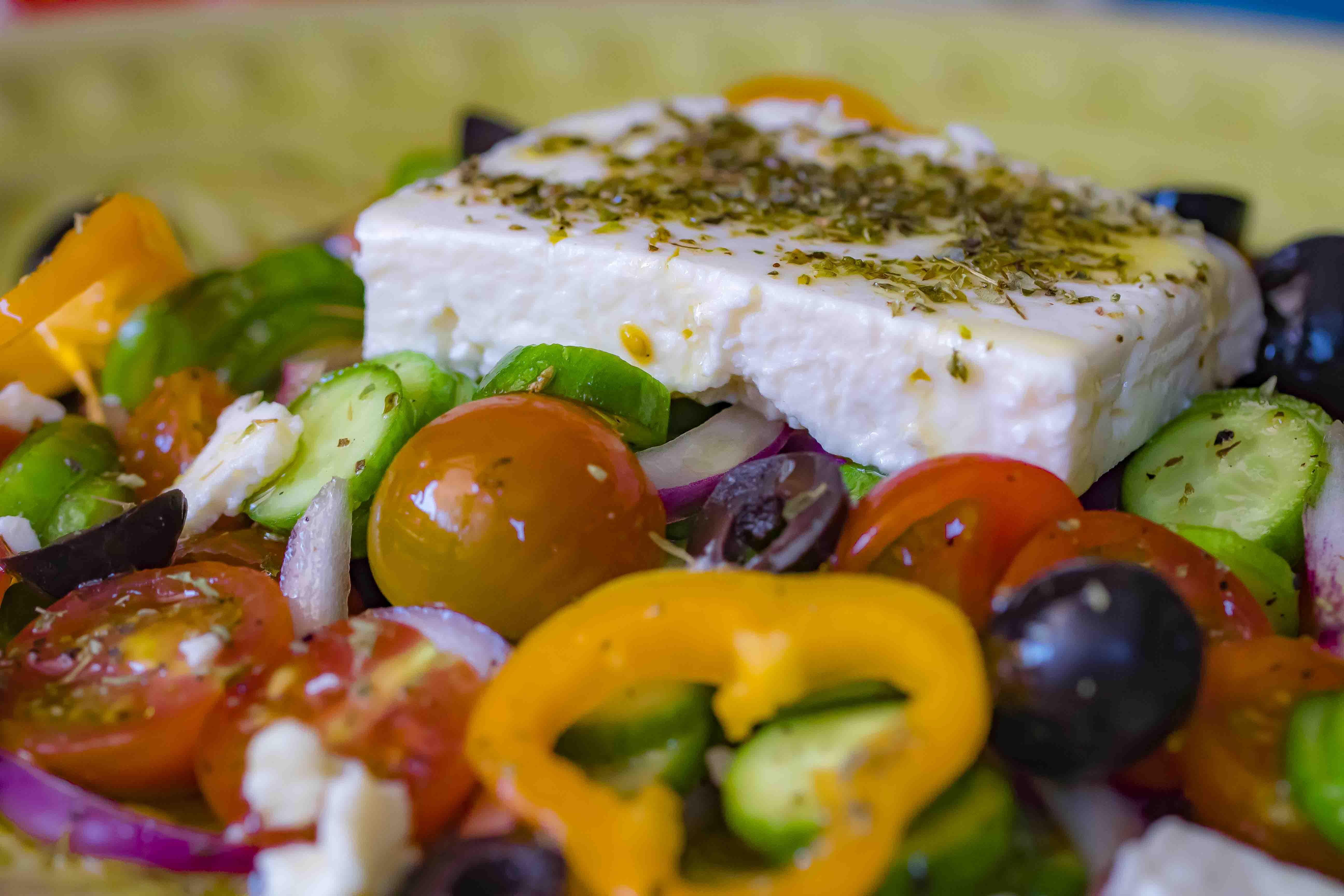 Magnifiek Griekse salade met gele paprika - Secretos Del Sur @LG96